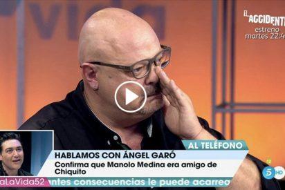 'Viva la vida': Manolo Medina rompe a llorar con las palabras de apoyo de Ángel Garó