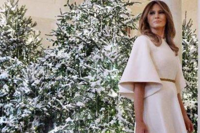 Críticas por la estridente decoración navideña de Melania Trump en la Casa Blanca