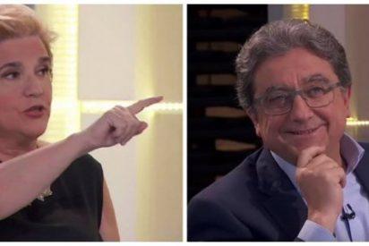 El tibio Enric Milló se reivindica fulminando a la chillona Pilar Rahola y al sectario presentador de TV3