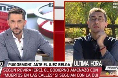 Monedero acusa a Rajoy de franquista y se queda con las ganas de apoyar las falaces diatribas de Marta Rovira