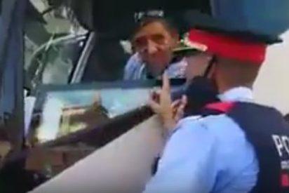 La amenaza del Mosso 'el Tigre' a un chófer de autobús por ondear una bandera española