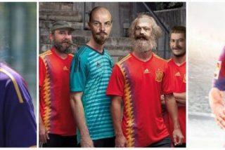 Pablo Iglesias se derrite con el engendro de camiseta de la Selección y las redes se llenan de 'memes' denigrándola