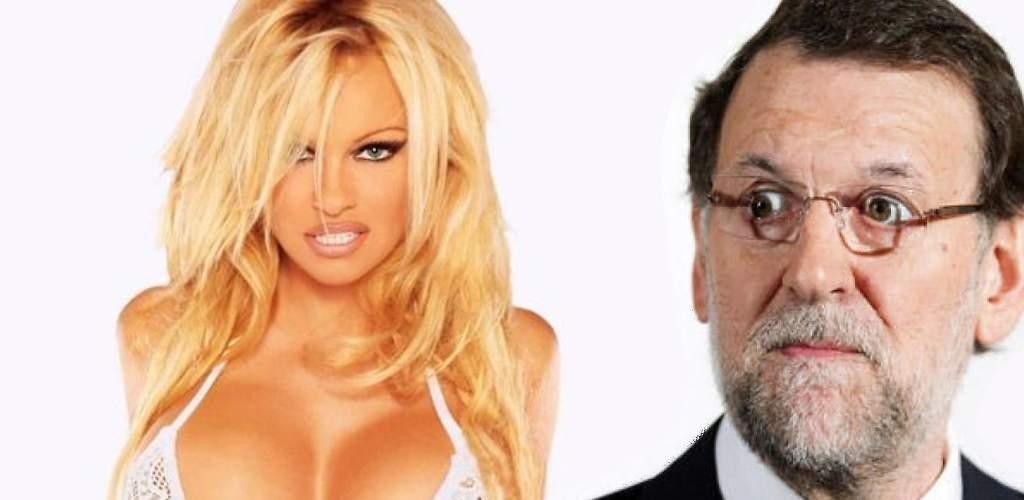 """Pamela Anderson llama """"idiota"""" a Rajoy y clama a favor de un referéndum en Cataluña"""
