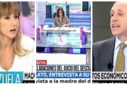 """Pardo de Vera se marcha del plató de Telecinco para no encontrarse con Eduardo Inda: """"No comparto tertulia con sicarios de las cloacas"""""""