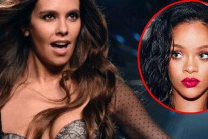 Cristina Pedroche se mete en el papel y look de Rihanna y las redes arden de calentura