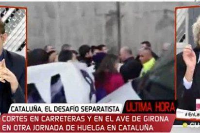 """Broncazo al provocador independentista e """"ignorante oceánico"""" por defender la cochambrosa huelga como un 'paro de país'"""