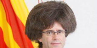El desmelenado Puigdemont se 'pasa a la raya' y se quita su peinado de fregona