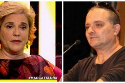 Pilar Rahola se revuelca aún más en el fango separatista dando la jeta por el insultador oficial de TV3