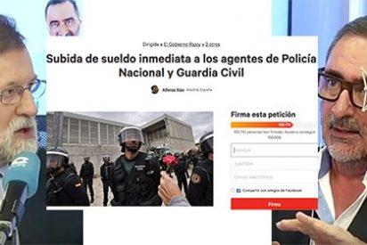 Rajoy desoye a las decenas de miles de españoles que exigen en la Red que se equipare el sueldo de Policía y Guardia Civil al de los Mossos