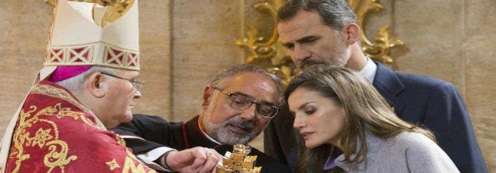 Los Reyes ganan el jubileo en Caravaca y completan su visita a los tres lugares santos de España