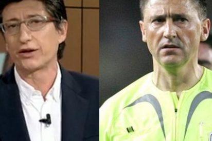 Juan Carlos Rivero se enfurece por una crítica a su programa y acaba a navajazos con el ex árbitro Daudén Ibañez
