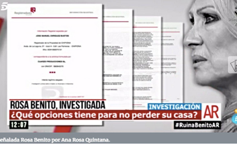 Bronca entre Ana Rosa Quintana y Rosa Benito por culpa de Hacienda