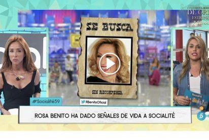 """'Socialité': La ordinaria respuesta de Rosa Benito: """"Estoy donde me sale del..."""""""