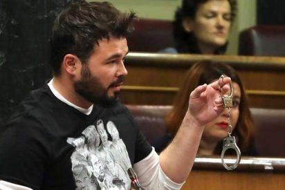 A Rufián pueden quedarle dos telediarios en el Congreso de los Diputados por payaso