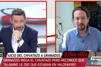 """El timorato Javier Ruiz ante el ataque de Iglesias al director de Okdiario: """"No me pongas en el papel de defender a Inda"""""""