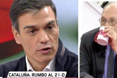 Sánchez se pica y se pone 'chungo' con Ekaizer por preguntarle sobre el subidón de Ciudadanos en las encuestas