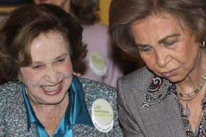 Doña Sofía llamó a Carmen Franco para interesarse por su salud y darle ánimos
