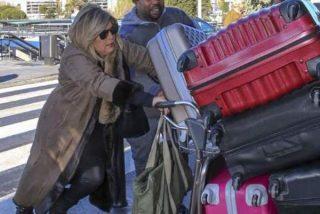 Terelu Campos no se arregla con 'dos trapitos' y la lía parda en el aeropuerto