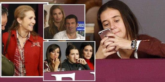 Victoria Federica, más pendiente de sus 'followers' que de los caballos