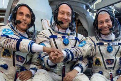 Colaboración espacial: un ruso, un norteamericano y un japonés