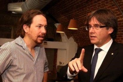Pablo Iglesias se compincha con Puigdemont, para hacer al prófugo president de la Generalitat