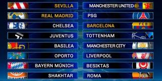 Champions: Al Real Madrid le toca el PSG y el Barça se las verá con el Chelsea