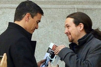 El PSOE de Sánchez cacarea, pero sigue en el gallinero de Pablo Iglesias