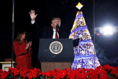 Histórico fracaso de convocatoria de Trump en el acto de iluminación del Árbol Nacional