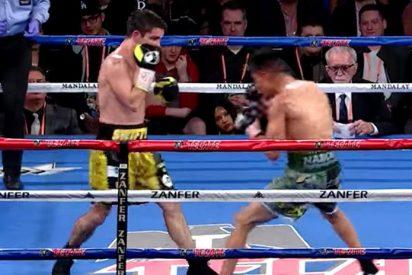 [VIDEO] Este boxeador británico casi pierde una oreja en un combate contra un mexicano