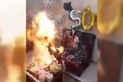 [VIDEO] Esto es lo que pasa cuando no tienes cuidado al soplar las velas de tu cumple