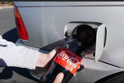Esto es lo que pasa cuando echas Coca Cola al depósito del coche