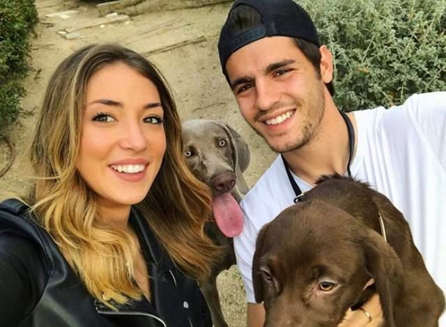 El crack Alvaro Morata y la bella Alice Campello esperan su primer hijo