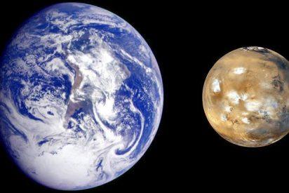 La Tierra y Marte son planetas vecinos desde hace relativamente poco