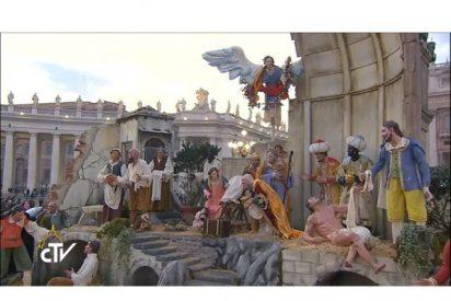 Inauguración del árbol de navidad y el belén en la Plaza de San Pedro