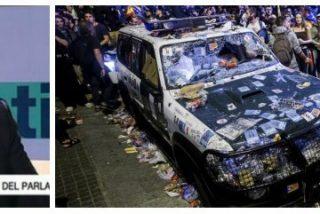 Un tertuliano de TV3 insinúa que la Guardia Civil provocó la destrucción de sus propios coches