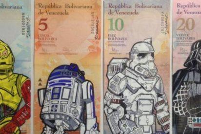 El artista que dibuja en los bolívares para denunciar la devaluación chavista en Venezuela