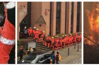 La jeta de amianto de los bomberos catalanes: acuden en masa a apoyar a 'Puchi' pero enviaron solo a 20 a Galicia