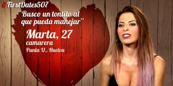 'First Dates: Marta quería dar el do de pecho y terminó pagando la cuenta