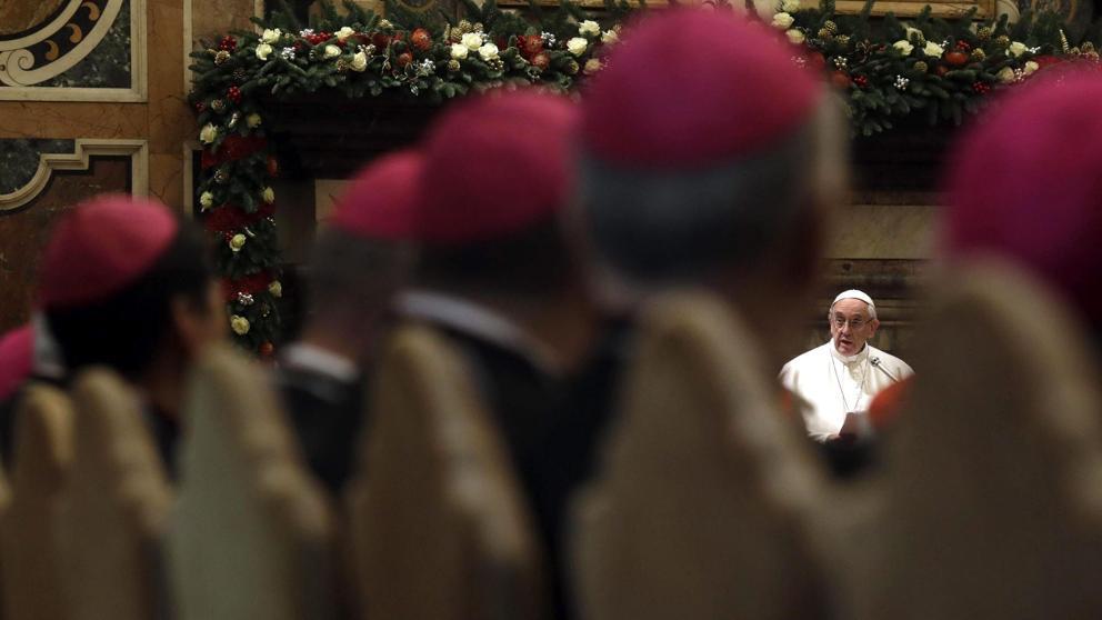 """Francisco desenmascara a los """"traidores de la confianza"""" dentro de la Curia"""