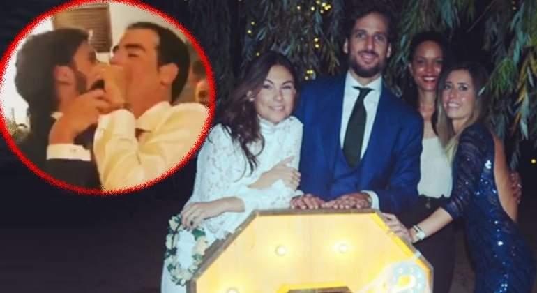 Feliciano López, desatado en la boda de la ex de Fernando Alonso