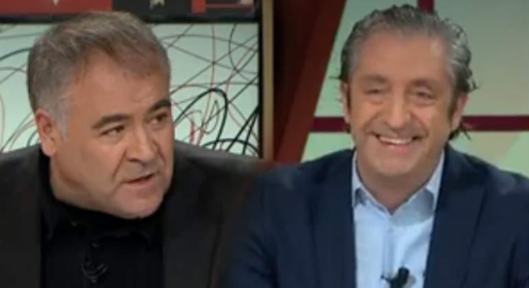 """Pedrerol 'advierte' a Ferreras: """"Es un peligro presentar un programa mucho tiempo"""""""