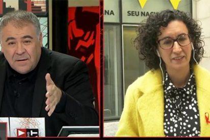La independentista llorica no sucumbe al tercer grado de Ferreras y sostiene su burda mentira