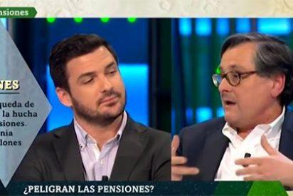Paco Marhuenda destapa en medio minuto la ignorancia supina del hermano de Garzón sobre las pensiones