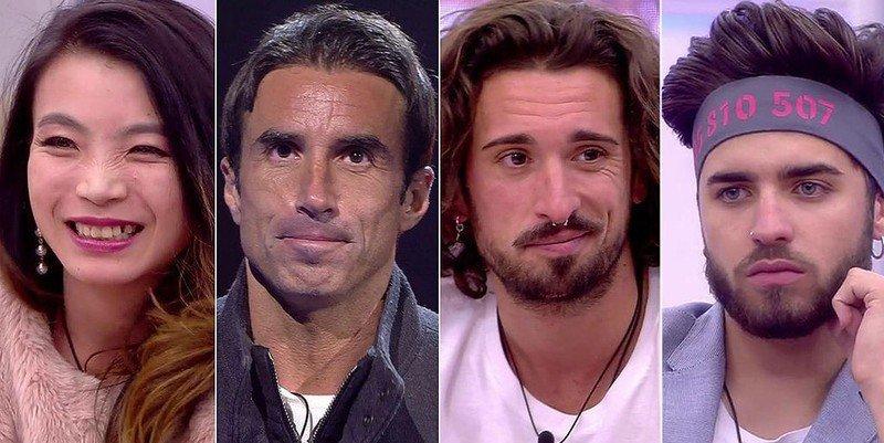 Hugo, Christian, Yangyang y Rubén, finalistas tras una triple expulsión en 'GH Revolution'