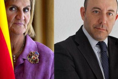 La expresidenta maleducada Núria de Gispert vuelve a ladrar y echa encima del economista Gonzalo Bernardos a sus turbas independentistas