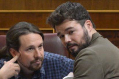 Dios los cría y el separatismo junta a este par de zotes: Rufián imita a Iglesias con otra 'cagada' histórica
