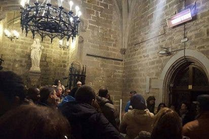 Los 'sin nada', en huelga de hambre en Barcelona