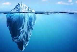 El iceberg glaciar antártico B-44 supera los 300 metros de espesor
