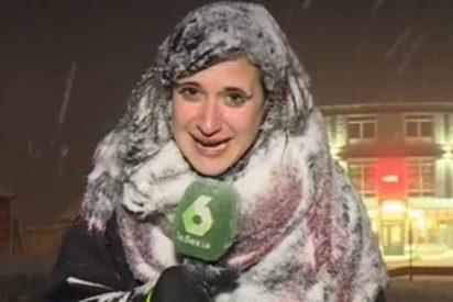 La reportera congelada de 'La Sexta' resucita en las redes sociales
