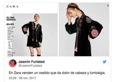 Las redes se cachondean de la extraña foto elegida por Zara para anunciar uno de sus vestidos
